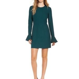 Leith long sleeved green dress Nordstrom L